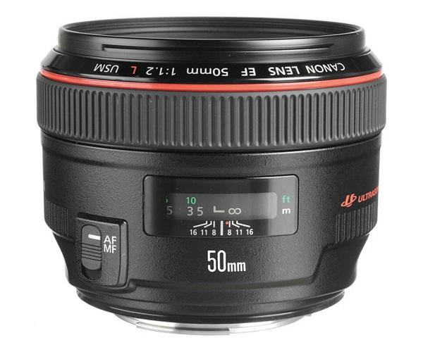 Canon 50mm 1.2 Lens on Rent